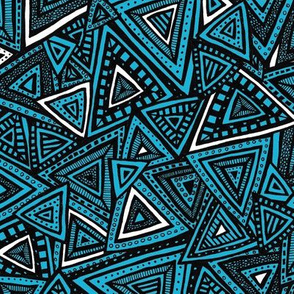 Tribal Triangles (Blue)