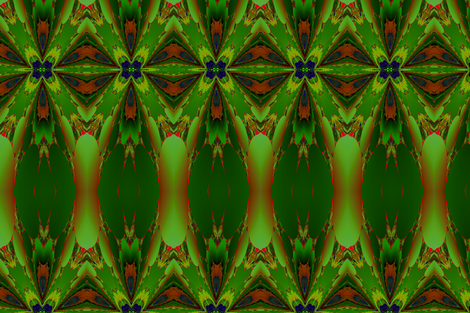 Green and Orange Fractal fabric by gingezel on Spoonflower - custom fabric
