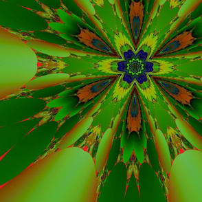 Green and Orange Fractal 2