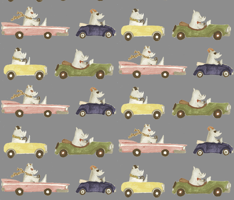 RHINOS fabric by pinkfez on Spoonflower - custom fabric