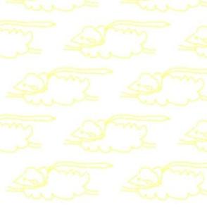 Light Yellow Flying Sheep