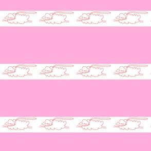 Sheep Pink Stripe
