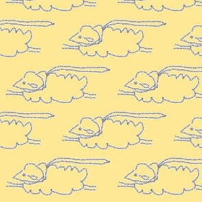 Yellow and Grey Flying Sheep