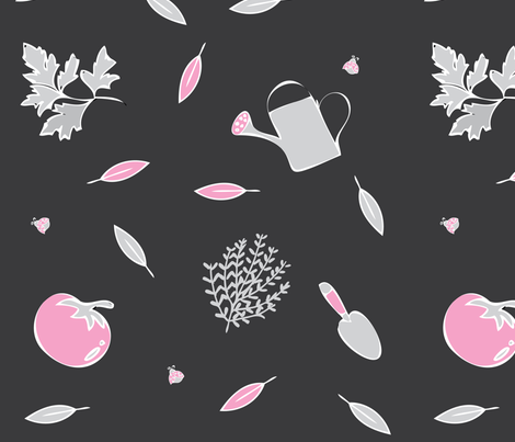 My_Pink_Garden fabric by jeskha32 on Spoonflower - custom fabric