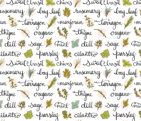 Herb Garden fabric by nadiahassan on Spoonflower - custom fabric