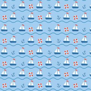 blue-red sea seamless