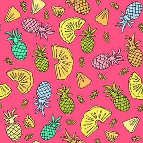 Pineapple Mix On Pink