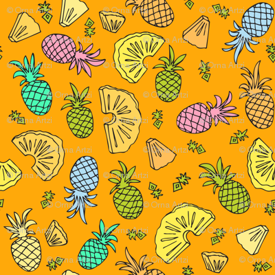 Pineapple Mix On Orange