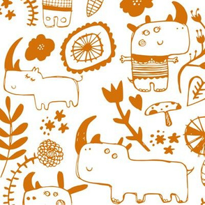 Rhinosceros - orange