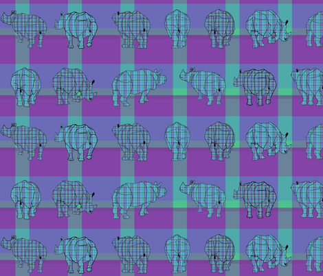 rhino_plaid2 fabric by mophead on Spoonflower - custom fabric