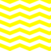 Yellow White Chevron