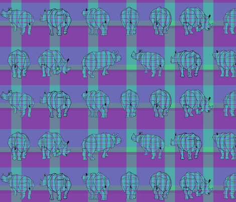 rhino_plaid3 fabric by mophead on Spoonflower - custom fabric