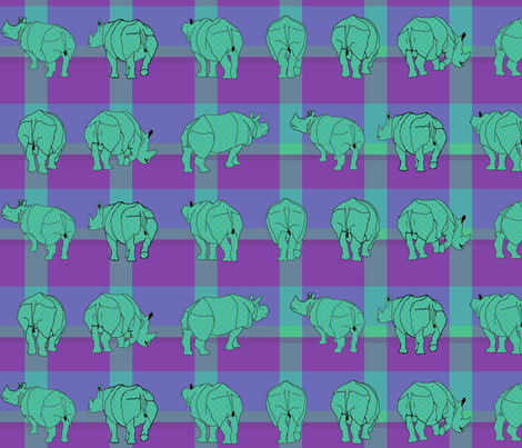 rhino_plaid4 fabric by mophead on Spoonflower - custom fabric