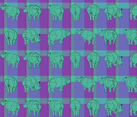 rhino_plaid5 fabric by mophead on Spoonflower - custom fabric