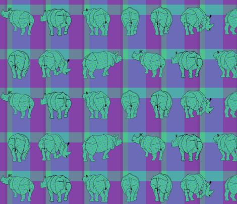 rhino_plaid5 fabric by mophead on Spoonflower - custom fabric
