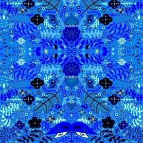 Night blue luna garden