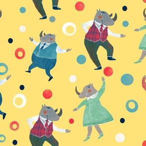 dancing Rhinos