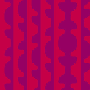 Topiary Stripe  -LARGE   -Red and Purple