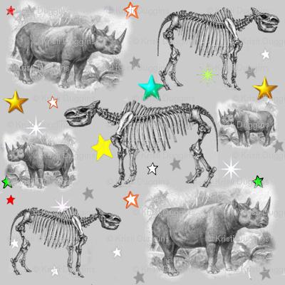 Museum Animals | Rhino Stars Grey