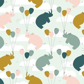 Floating Rhinos