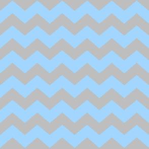Blue/gray Chevron medium