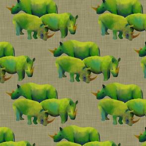 Herd on linen
