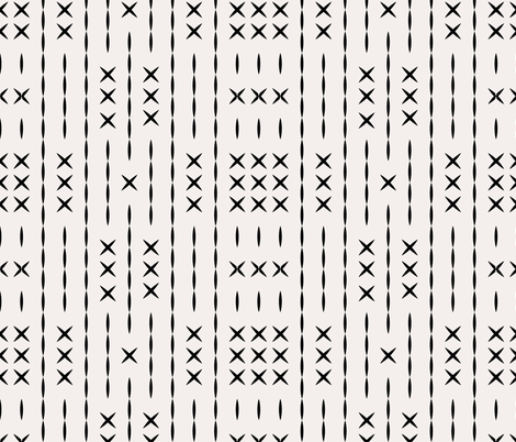 cross_line_mud_cloth fabric by holli_zollinger on Spoonflower - custom fabric