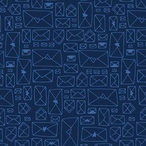 Envelopes - dark blue