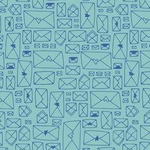 Envelopes - aqua