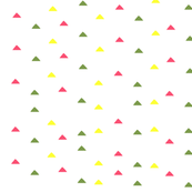 tiny triangles - yellow pink green