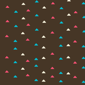 tiny triangles - brown pink  blue