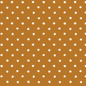 polka dot - white on brown