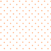 polka dot - apricot pink on white