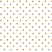 polka dot - brown on white