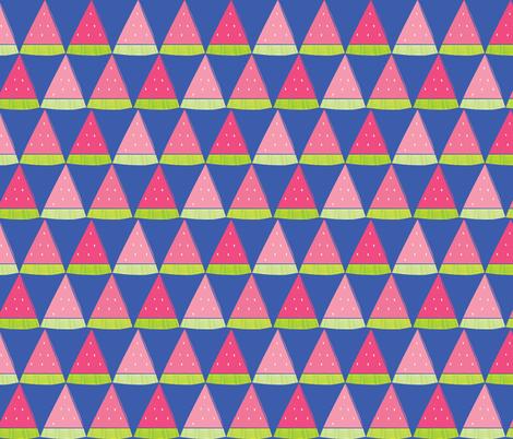 Watermelon Angles  fabric by ariel_lark_designs on Spoonflower - custom fabric
