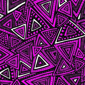 Tribal Triangles (Pink)