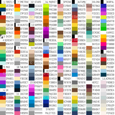 synergy themed palettes