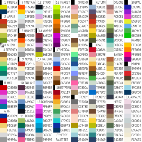 synergy themed palettes fabric by sef on Spoonflower - custom fabric
