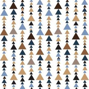 brown teal pyramids