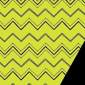 """VNA Top """"Zigzag"""" in citrine/black"""