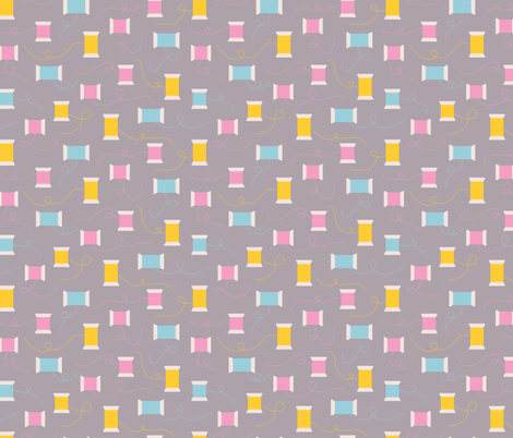 Sewing Threads (Grey) fabric by marcelinesmith on Spoonflower - custom fabric