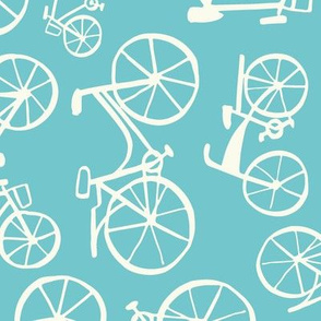 bikes in a blue land