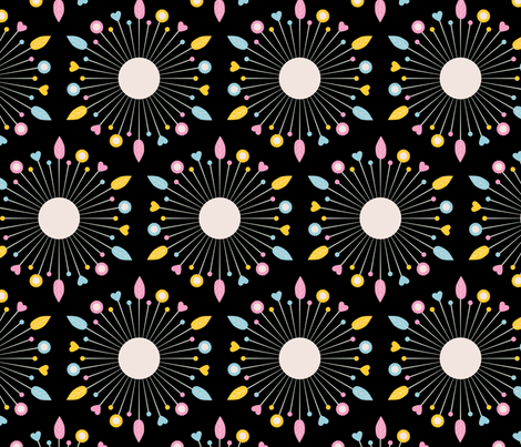 Sewing Pins (Black) fabric by marcelinesmith on Spoonflower - custom fabric