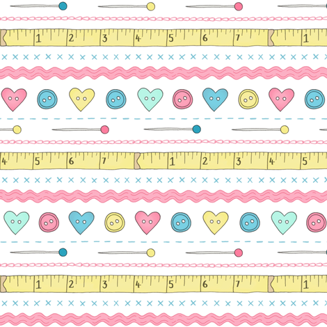 Sewing Notions 2 fabric by hazelfishercreations on Spoonflower - custom fabric