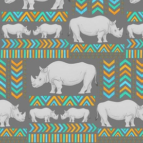 Tribal Rhinos - smaller scale