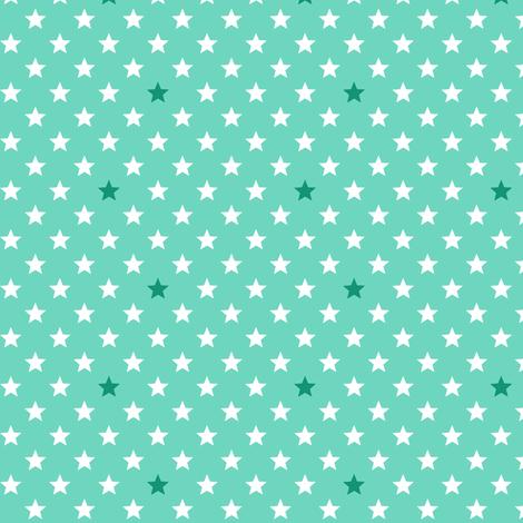 Stars turquoise fabric by hazelfishercreations on Spoonflower - custom fabric