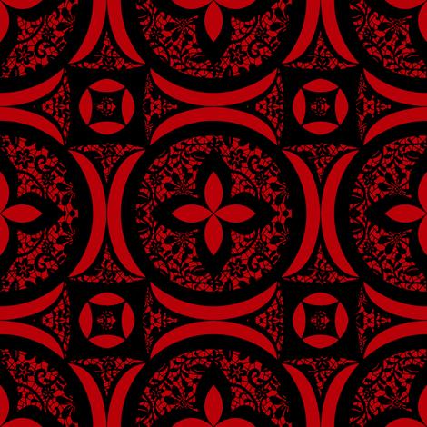 Dark lady fabric by vickythorndale on Spoonflower - custom fabric