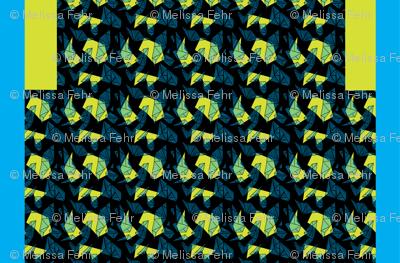 "Duathlon Shorts ""Maps"" in citrine/black"