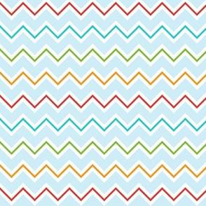 Chevron - Bright Primary Colours