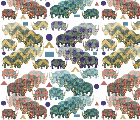 Rhino Brands fabric by charldia on Spoonflower - custom fabric